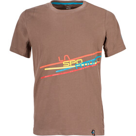 La Sportiva M's Stripe 2.0 T-Shirt Falcon Brown